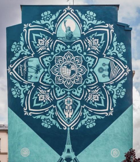 Shepard Fairey/Les fresques murales du 13ème arrondissement à Paris