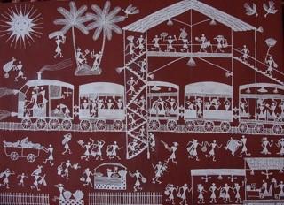 La peinture des Warlis en Inde/Street art primordial